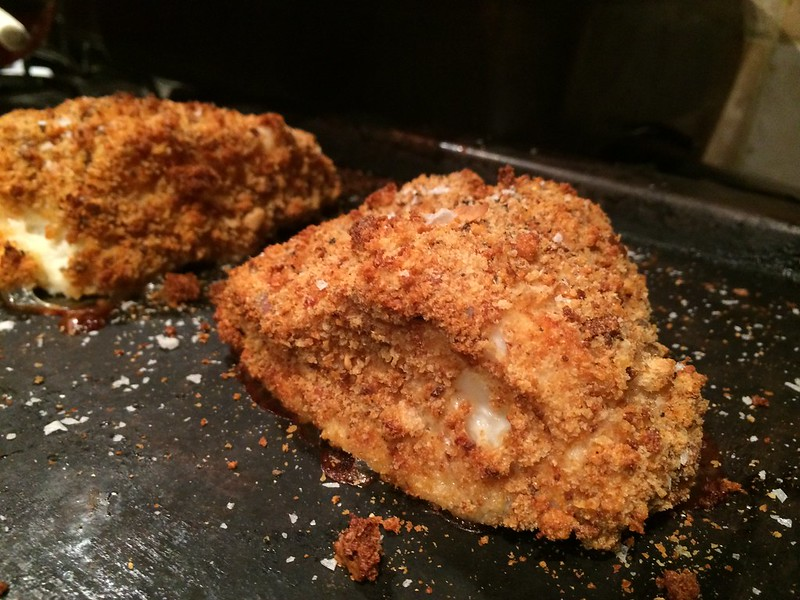 Breaded Fish and Chips : Cod out of the oven