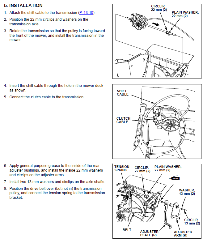 Hrx217tda 3speed Control Cable Replacement. The Drive Belt Is Under Constant Tension And You Need To Drop That Drain Fueloil Etc As Mower Must Be Inverted Get Everything. John Deere. John Deere 14se Mower Clutch Diagram At Scoala.co