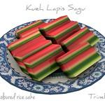 Lapis Sagu Asian Cake 3D Model