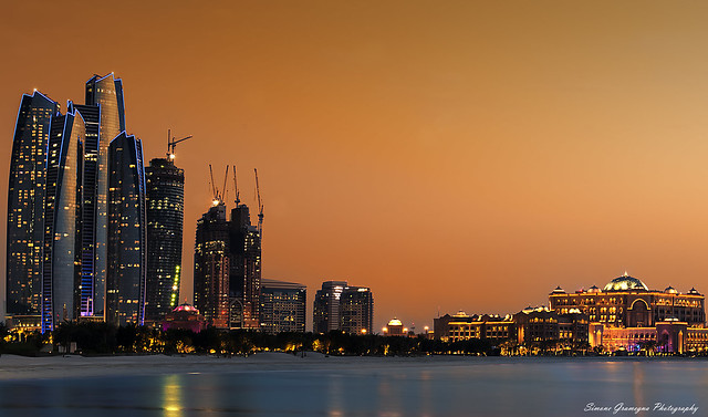 The Emirates palace & Etihad Towers