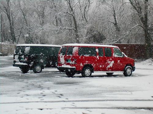 snowy vans