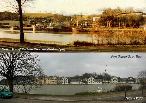Years Apart - 1982-2013, View of Truro River and Newham Quay from Trennick Row, Truro, Cornwall by Stocker Images