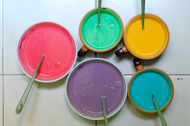 Happy Pancakes, rainbow pancakes