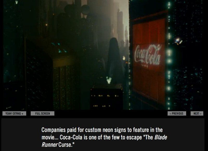 Blade Runner: The Final Cut on YEAH! - Coca-Cola