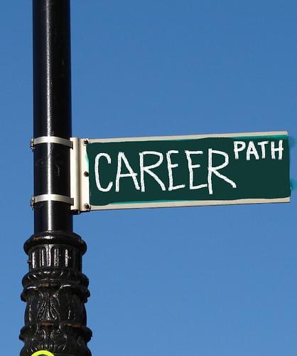CAREER PATH street sign