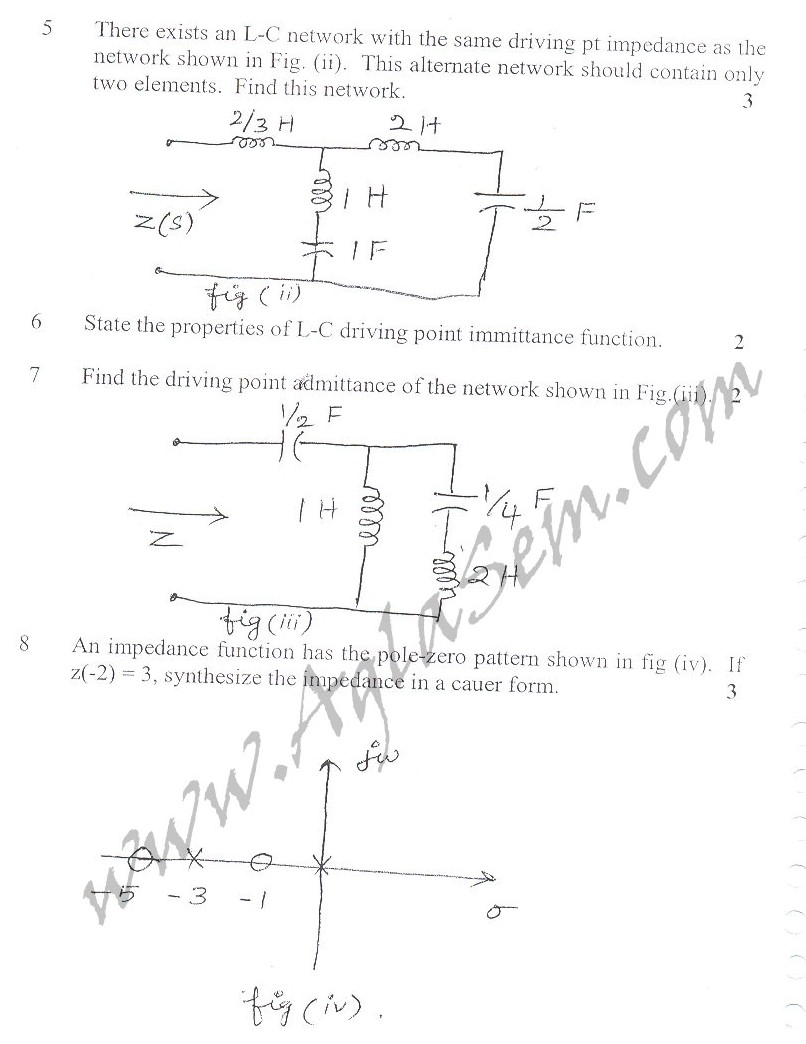 DTU Question Papers 2010 – 4 Semester - Mid Sem - EC-213