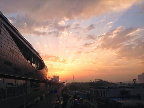 morning sunrise chongqing