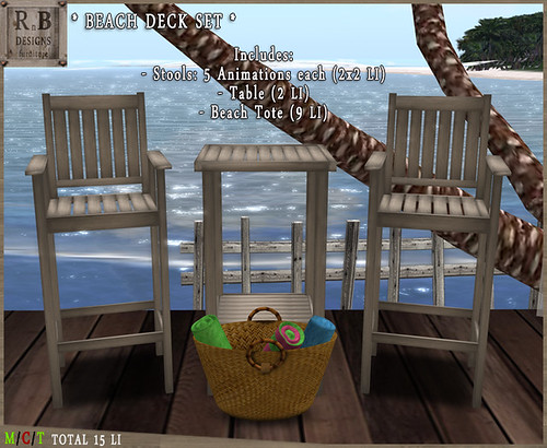 RnB Beach Deck Set - 2x5 Poses - Wood