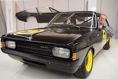 Norbert Heisterkamp in der Schwarzen Witwe von Opel