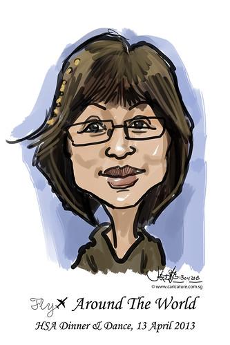 digital live caricature for HSA D&D 2013 - 3