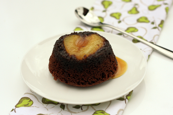 Chocolate, Almond and Pear Puddings