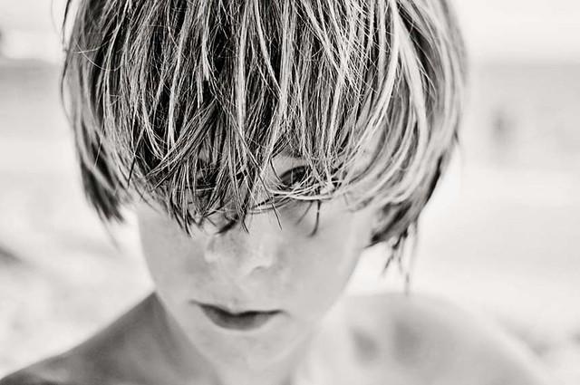 jack hair up close film ii b&w