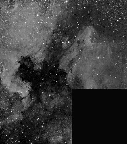 NGC7000 - work in progress by Mick Hyde