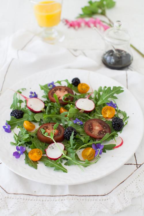 Arugula Violets Salad 1