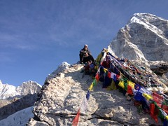 Mark made it to the top of Kala Pattar on his Everest Trek