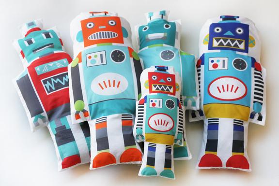 Robot fabric toys