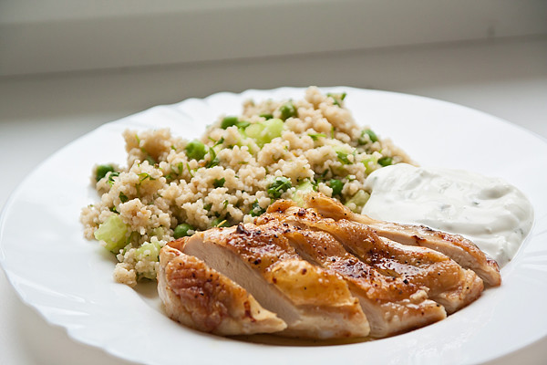 Spring coucous with chicken