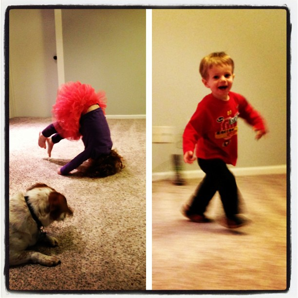 Checking out their new so very close to finished playroom! #picstitch #renovation #soclose #somuchtodo