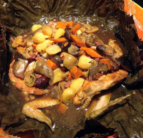 Braised Treasure Chicken in Lotus Leaf - The Boxing Crab