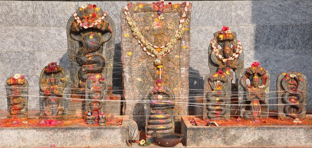 Naga Pooja, Savandi Veerbhadreshwara Temple, Savandurga, Karnataka, India
