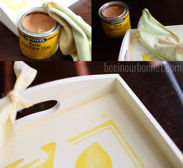 lemonade tray distressing