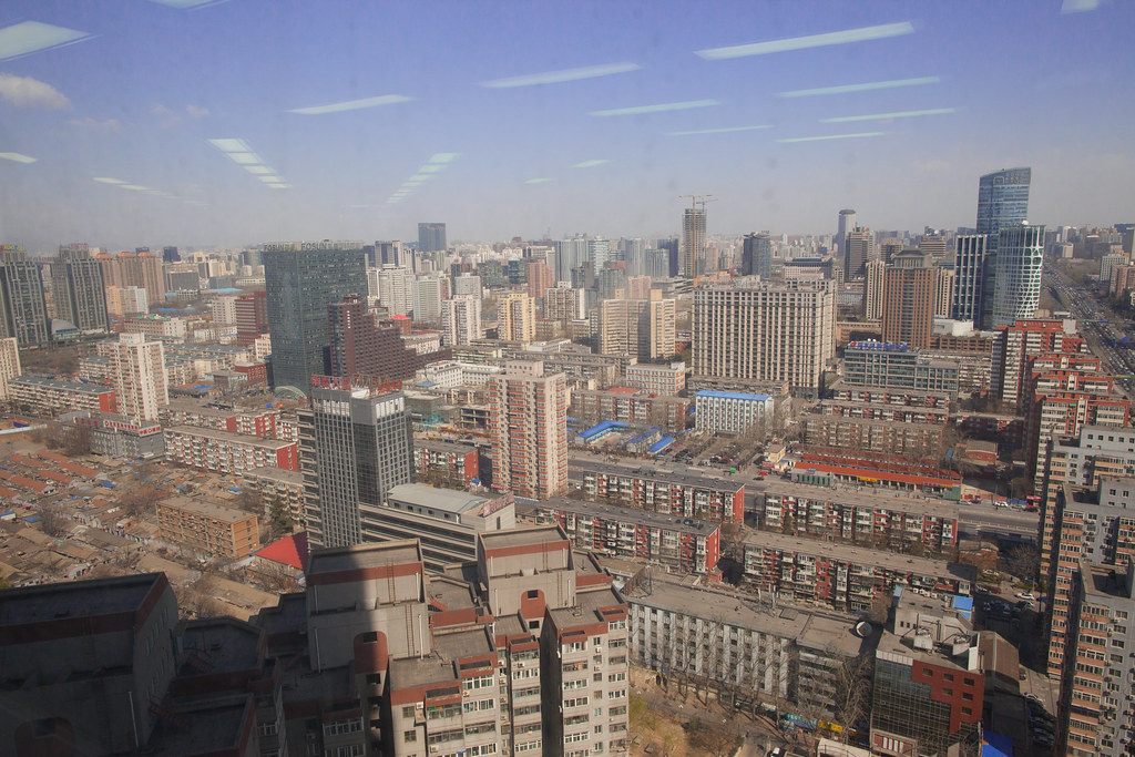 View from the offices of the US Embassy in Beijing