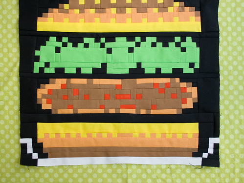 Burger Time Block for Chris's month in the Fab Bee