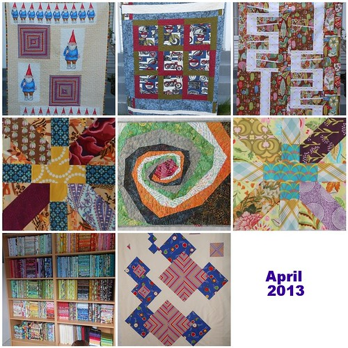 April 2013 mosaic by capitolaquilter