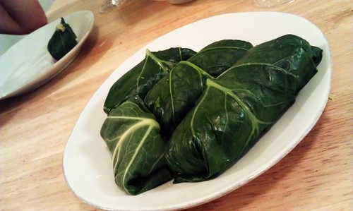 Dinner tonight: collard green wrap