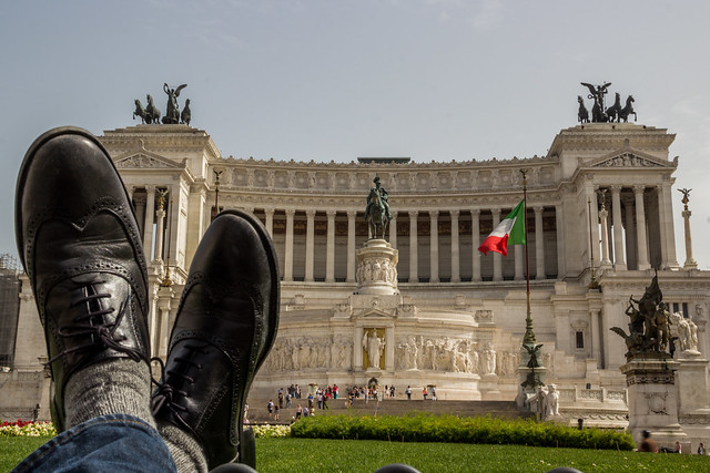 Monument of Vittorio Emanuele II - Traveling Boots