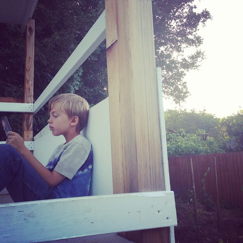 reading in the tree fort