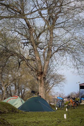 Camping at Tsukigata Kairaku Campground (Tsukigata, Hokkaido, Japan)