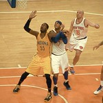 Roy Hibbert Carmelo Anthony And Jason Kidd Await The Rebound