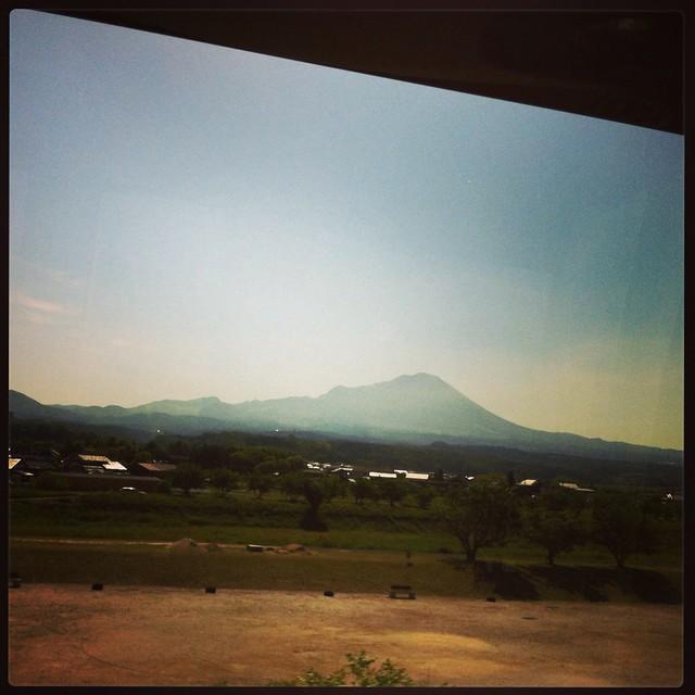 電車上看大山