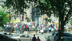 Protestors outside Dept of Justice today by martin_kalfatovic