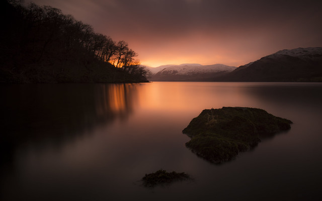 Winter Sunset: Ullswater