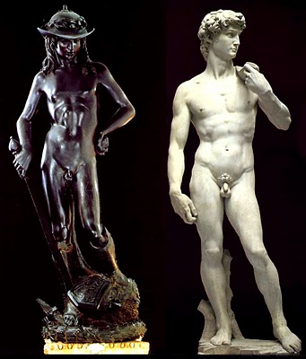 david michelangelo and donatello Michelangelo's david ghiberti and donatello all depicted their own version of david standing over david is tense: michelangelo catches him at the apex of.