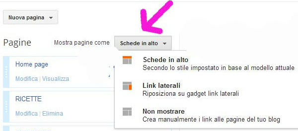 TUTORIAL PER LE PAGINE BLOGGER