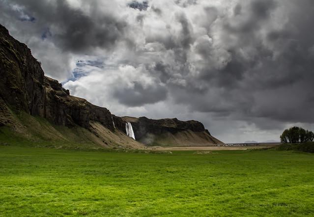 Seljalandsfoss from distance