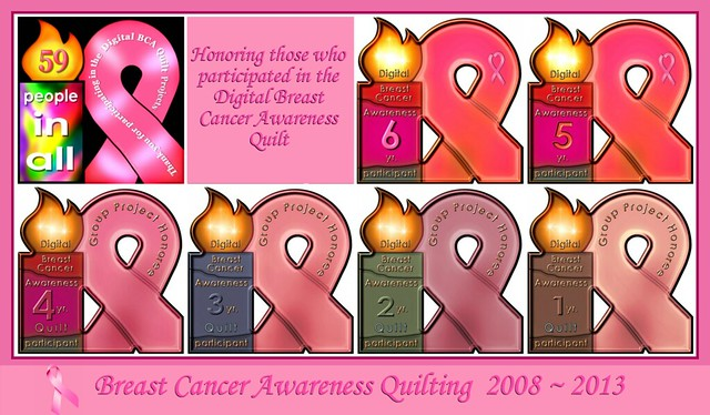 2008~2013 Honoring those who participated in the Digital Breast Cancer Awareness Quilt