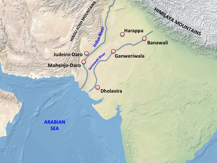 Harappa World Map.India Harappan Map Map Of The Area Of Harappan Civilizat