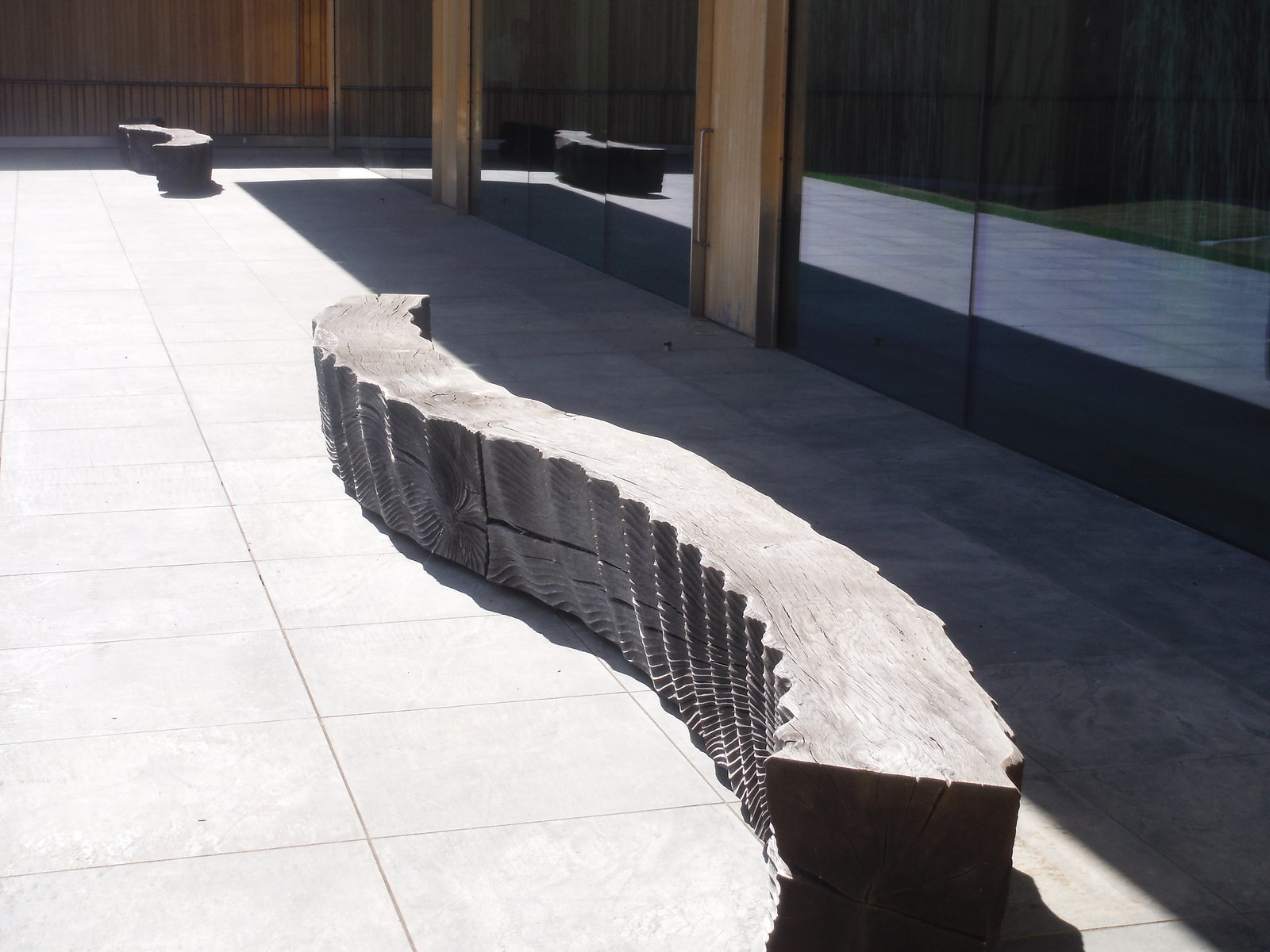 (two of) six sculptural benches, Alison Crowther, 2011-12, Windmill Hill Archive, Waddesdon Estate SWC 192 Haddenham to Aylesbury (via Waddesdon)