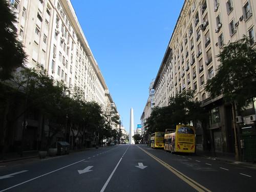 Buenos Aires: notre rue, à deux pas de notre appartement