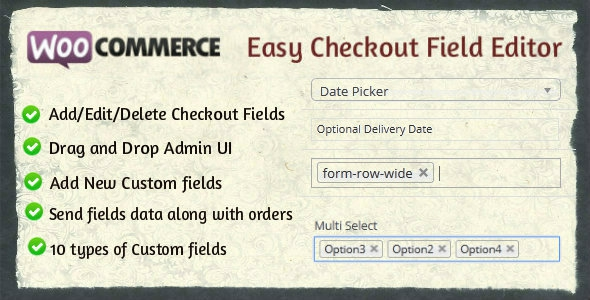 Woocommerce Easy Checkout Field Editor v1.2.5