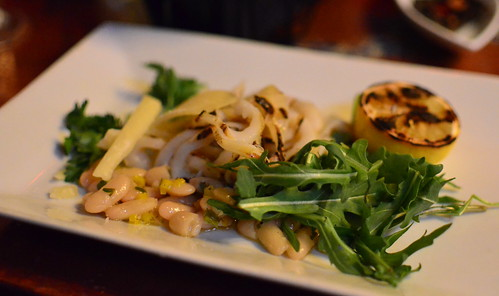Grilled Calamari with White Beans