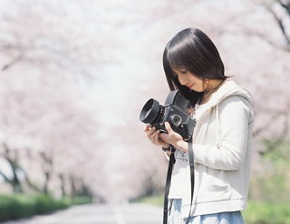 spring girl with  bronica