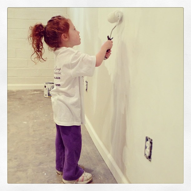 Painting her new playroom. #renovation