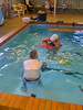 Phoebe at swimming classes