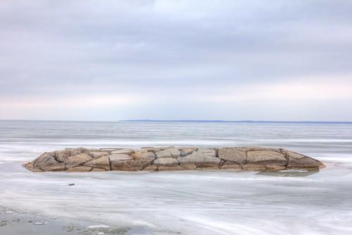ice landscape rocks barrie lakesimcoe