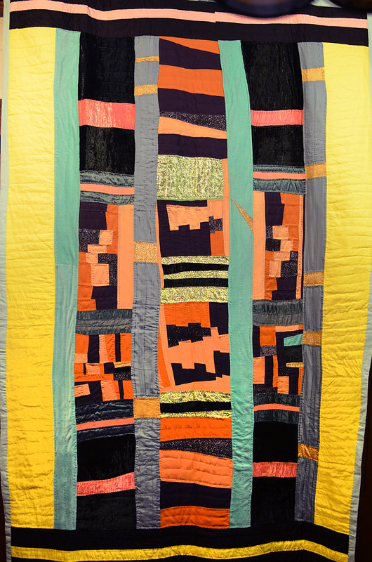 Improvisational quilt by Eli Leon